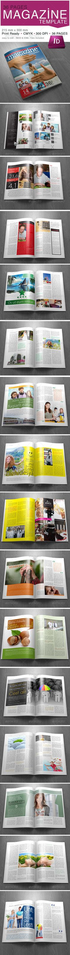 36 Page Magazine Template  - GraphicRiver Item for Sale