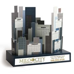 Shop at Deluxe for the Build a City Die-Cut Desk Calendar that can be customized with your logo or personalized message. Order Build a City Die-Cut Desk Calendar in bulk at wholesale prices today. Corporate Awards, Corporate Gifts, Graphic Design Posters, Modern Graphic Design, Calendar Design Template, Creative Calendar, Custom Calendar, Desk Calendars, Desktop Calendar