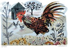 """Cockerel"" by Mark Hearld, Lithograph"