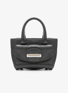 Micro Amal Grafite Mini Bag In Graphite Leather  view all details on this  item and shop online on the Ballin official boutique. Ballin Shoes 246f0391120
