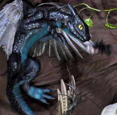 dragon art//Polymer clay//OOAK//Fantasy art//Fantasy sculpture//feather dragon