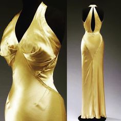 Evening dress, by Charles James, 1934. Victoria and Albert Museum
