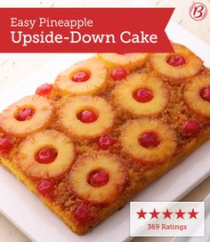 """""""I absolutely love this cake. I made it for dessert for a family dinner and it was a hit. Everyone said it was the best pineapple upside-down cake they have ever had! Until I made this recipe, I had never had this kind of cake before. It is my new favorite!"""" –Acsims"""
