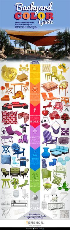 El color en los muebles de exterior