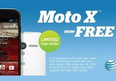 Only for a limited time, AT&T is offering the LG G2 and Moto X for free on contract.