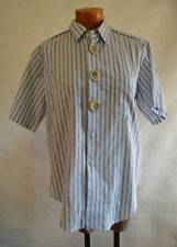 COMME DES GARCONS Pinstriped Short Sleeved Big Shirt S