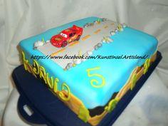 Cars  Lightning McQueen Cake Fondant