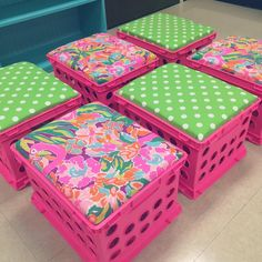 Love my Lilly Pulitzer inspired crates! My first graders are in for a colorful surprise!