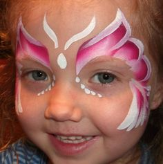 When you think about face painting designs, you probably think about simple kids face painting designs. Many people do not realize that face painting designs go Dragon Face Painting, Girl Face Painting, Face Painting Designs, Painting For Kids, Face Paintings, Simple Face Painting, Belly Painting, Butterfly Face Paint, Butterfly Makeup
