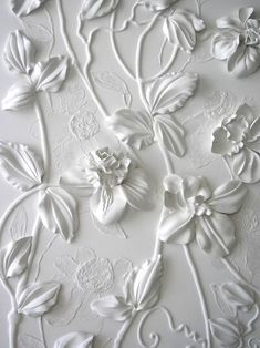 Plaster. I think someone needs to invent a piping bag and tips strong enough to pipe plaster, then I shall take cake decorating courses.