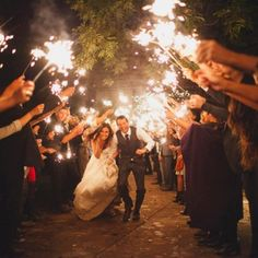 Fireworks for the engagement, need them for the wedding. At the end and perhaps sparklers??
