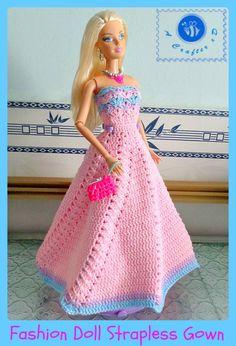 Fashion Doll Strapless Gown ~ Maz Kwok�s Designs