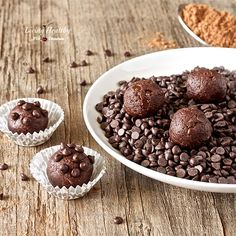 No-bake Double Chocolate Cookie Dough Balls- completed 7/10/14- 2 words: chocolate heaven! so simple (esp. for summer-no bake!) & decadent. subbed dairy milk for coconut milk