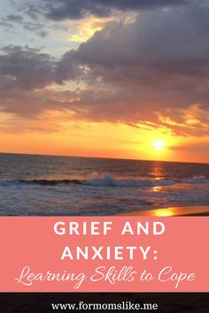 Grief causes such anxiety. Here are some coping skills to help manage the anxiety that comes from losing someone we love. Anxiety Coping Skills, How To Treat Anxiety, Deal With Anxiety, Anxiety Relief, Causes Of Depression, Living With Depression, Dealing With Depression, Depression Treatment