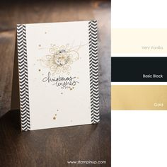 Very Vanilla, Basic Black, Gold #stampinupcolorcombos