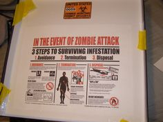 3 Steps to Surviving an Attack - found on internet and printed