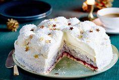 Festive snowball cake recipe DELICIOUS - Our popular recipe for Festive Snowball Cake and over other free recipes LECKER. Berry Smoothie Recipe, Easy Smoothie Recipes, Snack Recipes, Pasta Recipes, Healthy Recipes, Fall Desserts, Christmas Desserts, Christmas Cakes, Snowball Cake Recipe