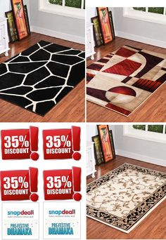 This #festive season avail great discounts on our #carpets, #rugs, #shaggycarpets, #arearugs in #snapdeal. Every design has #discount.  Also get #Doormats at very attractive price. Follow the #imageand keep scrolling down in #snapdeal. Carpet, Home Decor, Rugs, Contemporary Rug, Area Rugs, Door Mat