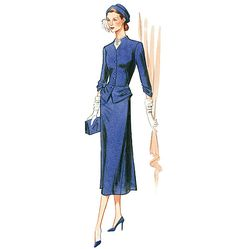 V1136, Misses' Jacket and Dress, c. 1945 - Maybe I'll go to that 1940s ball again.