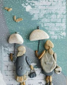 Pebbles: 25 ideas for creative art inspiration - The . flood of ideas for . - Pebbles: 25 ideas for creative art inspiration – The … flood of ideas for do-it-yourself constr - Stone Crafts, Rock Crafts, Arts And Crafts, Art Crafts, Christmas Paintings On Canvas, Christmas Canvas, Christmas Christmas, Christmas Ornaments, Caillou Roche
