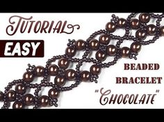 Tutorial: Retro beaded bracelet CHOCOLATE / Ретро браслет из бисера своими руками - YouTube