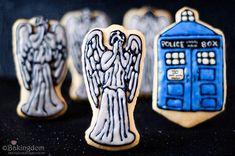 Weeping Angel and TARDIS Cookies