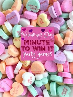 Valentine's Day Minute to Win It games are perfect for a party, school party, and a fun family night. Conversation hearts are the stars of these games. Minute to Win It Games Valentines Day Food, Valentines Gifts For Boyfriend, Valentines Day Decorations, Valentine Gifts, Valentine Party, Valentine Ideas, Science Valentines, Valentine Nails, Blond Amsterdam