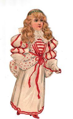Raphael Tuck Paper Doll Victorian 1894