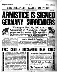 Germany will be humiliated by the Treaty of Versaille. And Adolf Hilter will remember this when he creates the Nazi Party.