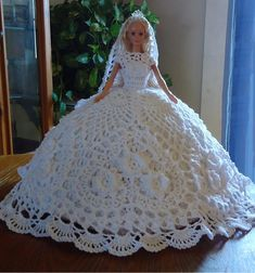 Barbie Fashion Doll Bed Pillow. White Wedding, or choose any color.