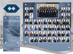 Placa de Formatura em vidro e Acrílico  Turma Administração Unp 2015.1