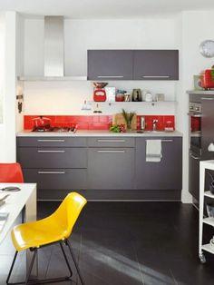 Cuisine Aero Taupe Mat En Promotion Chez Fly Thionville Et Metz - Gaziniere promotion pour idees de deco de cuisine