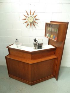 Retro Vintage 50s 60s Turnidge Teak Cocktail Home Drinks Bar Cabinet Danish Era | eBay
