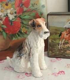 Vintage figurine of Fox Terrier dog