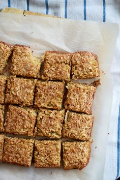 Coconut Dream Bars- chewy coconut filling with buttery shortbread made with sweet coconut flour. No Bake Desserts, Dessert Recipes, Coconut Dream, Baking With Coconut Flour, Dream Bars, American Desserts, No Bake Bars, Healthy Treats, Delish