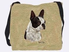 Boston Terrier Black Tote Bag – 17 x 17 Tote Bag ← PawSitively American Boston Terrier