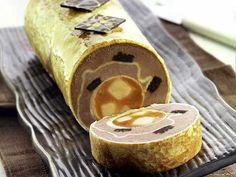 Ricetta Tronchetto di crepes, mousse al gianduia e caramello di banane
