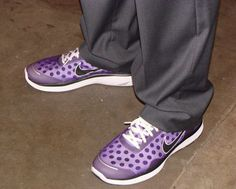 Classy, yet comfortable. The Purple Nikes!