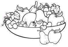 fruit bowl drawing for kids
