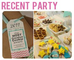 we hosted a cookie exchange party this past christmas- here's some cute ideas i'll be sure to use for this year's party.