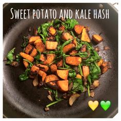 Serves 4 Container Equivalents (per serving): 1 Yellow, 1 Green Ingredients 2 medium sweet potatoes, peeled and cut into small cubes 2 shallots, finely diced 3-4 cups kale (fresh or frozen) 1 teasp…