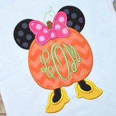 Miss Mouse Pumpkin Applique