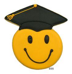 Smiley Face Graduate Cookie Cutter