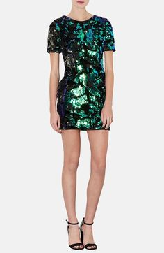 #Topshop Sequin Velvet Shift Dress available at #Nordstrom - as seen in Ellie Goulding's Goodness Gracious video