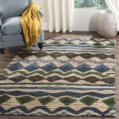 Shop for Safavieh Handmade Cedar Brook Blue/ Multi Jute Rug (8' x 10'). Get free shipping at Overstock.com - Your Online Home Decor Outlet Store! Get 5% in rewards with Club O!