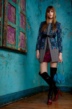 Matthew Williamson Pre-Fall 2015 - Collection - Gallery - Style.com. More than the clothes, I loved how beautiful this picture is. How artistic. Oh, the colours. That blue wall...