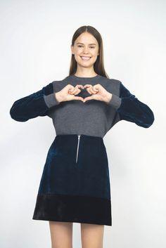 Image of Jupe zip velours