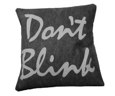 The Angels Have the Phonebox, Doctor Who Inspired Pillow for $30.00 -- I think I need this. :)