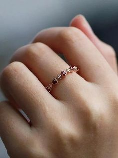 Ruby Wedding Band Diamond Women rose Gold Stacking half Eternity Everyday Dainty Anniversary Promise Matching Ring gift for her Birthstone – Ruby Jewelry Ruby Jewelry, Bridal Jewelry, Diamond Jewelry, Gold Jewelry, Jewelry Rings, Fine Jewelry, Jewellery Box, Jewellery Shops, Diamond Rings