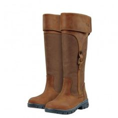 Classy Looking Waterproof Country Boots Dublin Ladies Turndown Boots have a classic appeal like old cavalry boots but are packed Equestrian Boots, Equestrian Outfits, Equestrian Style, Equestrian Fashion, Cowgirl Boots, Western Boots, Horse Riding Shoes, Riding Boots, Riding Gear